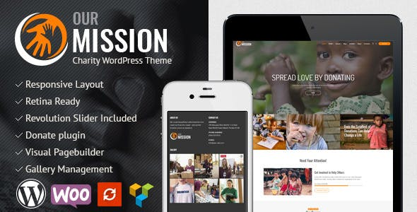 JUAL Our Mission - Charity WordPress Theme