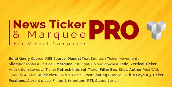 JUAL Pro News Ticker & Marquee for Visual Composer