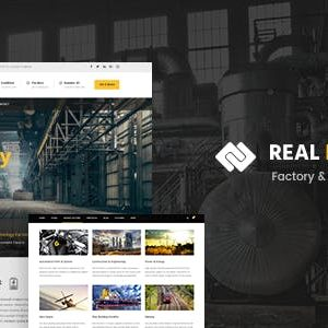 JUAL Real Factory - Construction WordPress Theme For Construction & Industrial Company