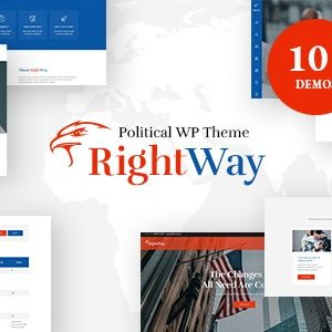 JUAL Right Way - Election Campaign and Political Candidate WordPress Theme