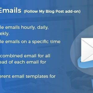 JUAL Schedule Emails - Follow My Blog Post add-on