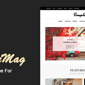JUAL SimpleMag - Magazine theme for Creative Stuff