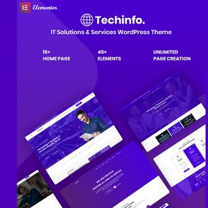JUAL Techinfo - IT Solutions & Services Responsive WordPress Theme