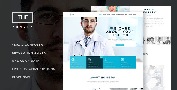 JUAL The Hospital - One and Multi Page Health Theme