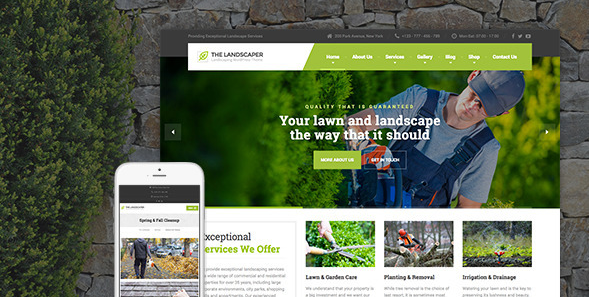 JUAL The Landscaper - Lawn & Landscaping WP Theme