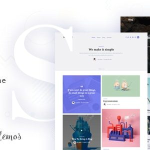 JUAL The Simple - Business WordPress Themes