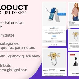 JUAL WOO Product Grid/List Design- Responsive Products Showcase Extension for Woocommerce