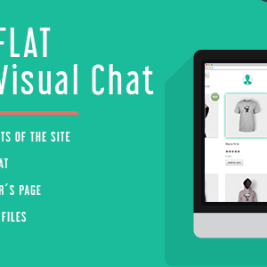 JUAL WP Flat Visual Chat - Live Chat & Remote View for WP Free