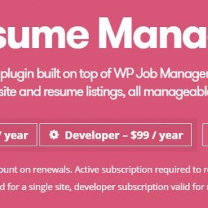 JUAL WP Job Manager Resume Manager Add-on