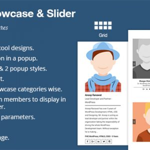 JUAL WP Team Showcase and Slider By WpOnlineSupport