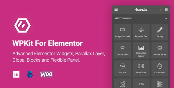 JUAL WPKit For Elementor - Advanced Elementor Widgets Collection & Parallax Layer