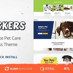 JUAL Whiskers - Pets Store - Vet Clinic - Animal Adoption