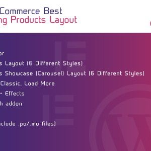 JUAL WooCommerce Best Selling Products Layout for Elementor