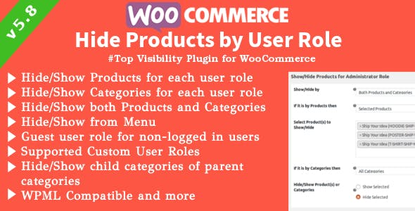 JUAL WooCommerce Hide Products - Products