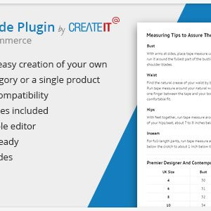 JUAL WooCommerce Product Size Guide