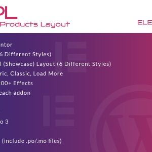 JUAL WooCommerce Products Layout for Elementor WordPress Plugin