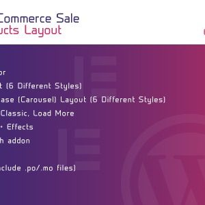 JUAL WooCommerce Sale Products Layout for Elementor WordPress Plugin
