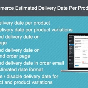 JUAL Woocommerce Estimated Delivery Date Per Product