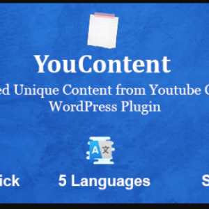 JUAL YouContent - Unlimited Unique Content Generator from Youtube Captions