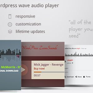 JUAL ZoomSounds - WordPress Wave Audio Player with Playlist