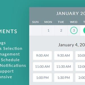 JUAL gAppointments - Appointment booking addon for Gravity Forms