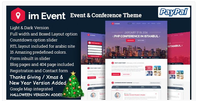 JUAL imEvent - Conference Landing Page HTML Template