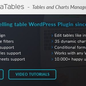 JUAL wpDataTables + Addons - Tables and Charts Manager for WordPress