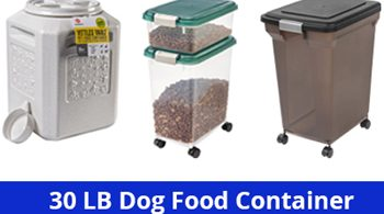 30 bl dog food container