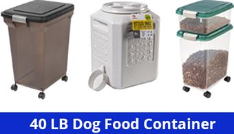 40 lb dog food container