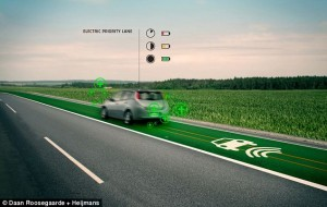 New road surface that charges you electric car!