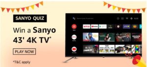 Amazon Sanyo TV Quiz Poster