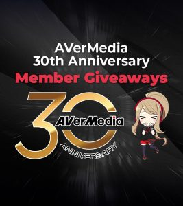 AVerMedia Turns 30 in the Young Gaming Industry