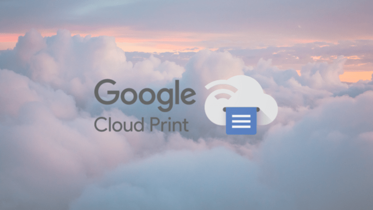 Google Cloud Print shutting down Today