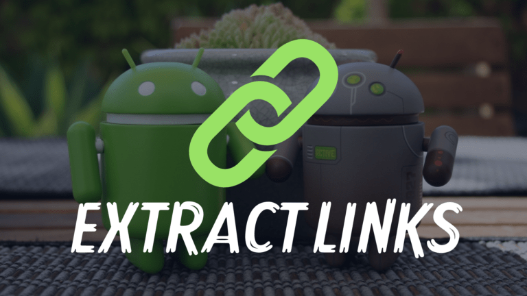 How to Extract Links from Webpage on Android
