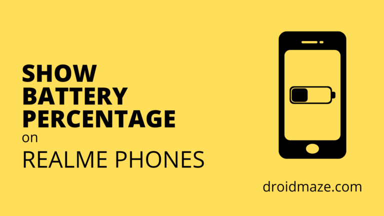 How to Show Battery Percentage on Realme Phones