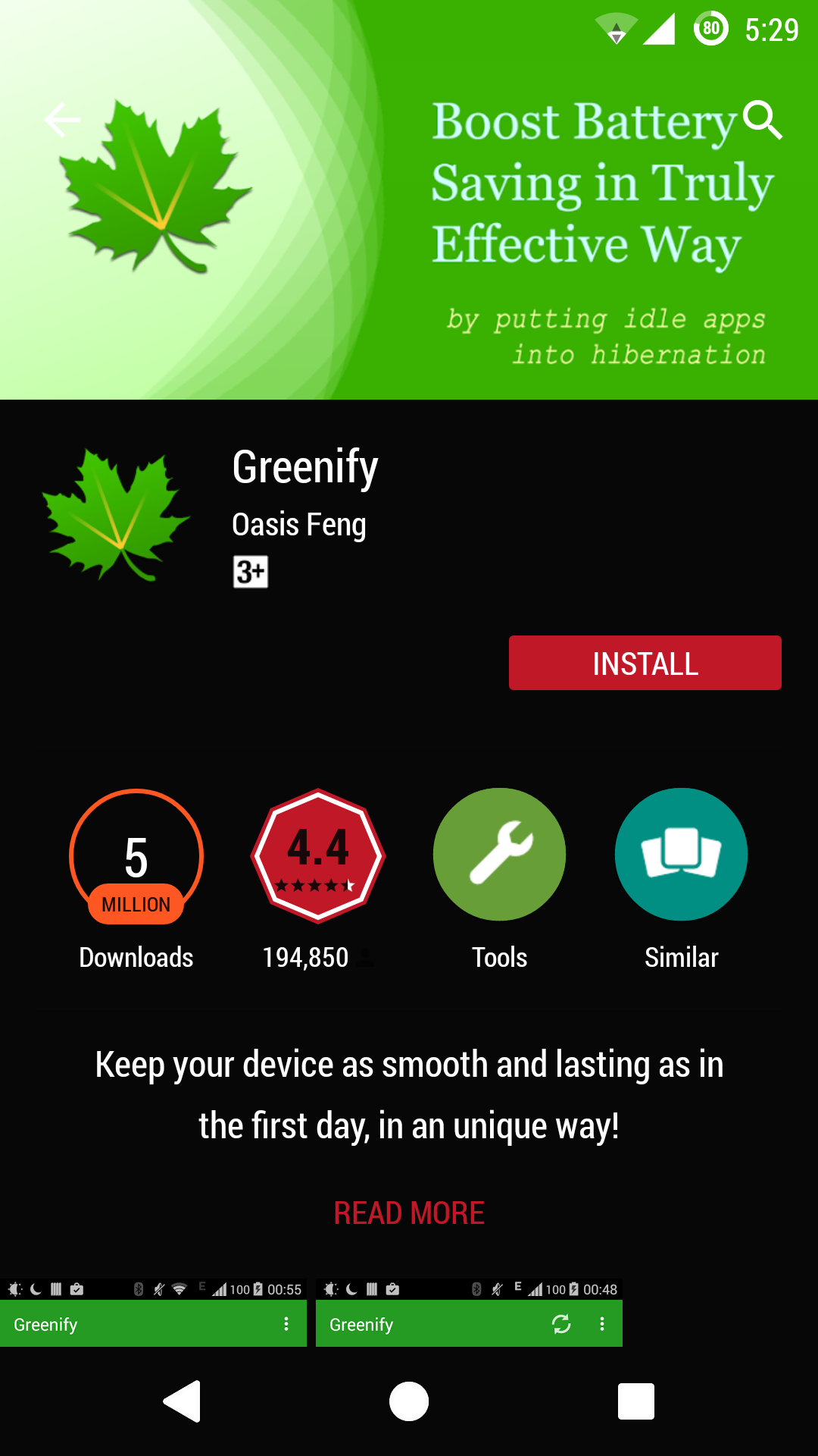 Increase Battery Life Of Your Android greenify