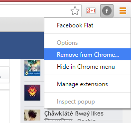Facebook Flat Design On Google Chrome