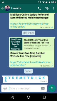 Blue Color Font In WhatsApp