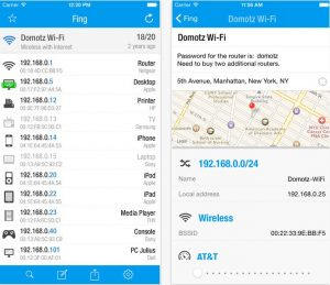 Find Devices Connected To Your WIFI fing-iOS
