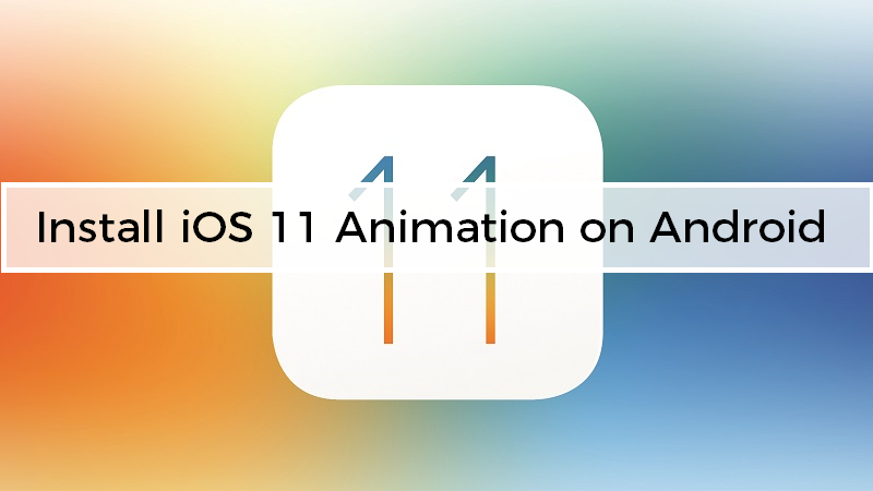 Install iOS 11 Animation