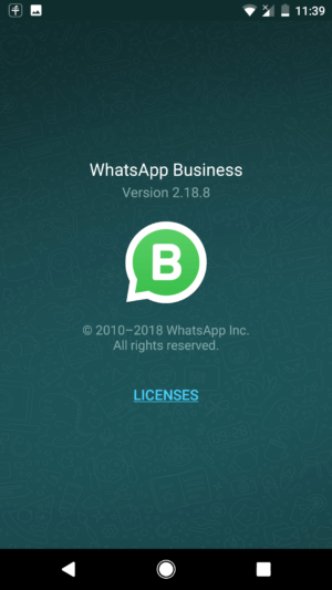 WhatsApp Business on Android