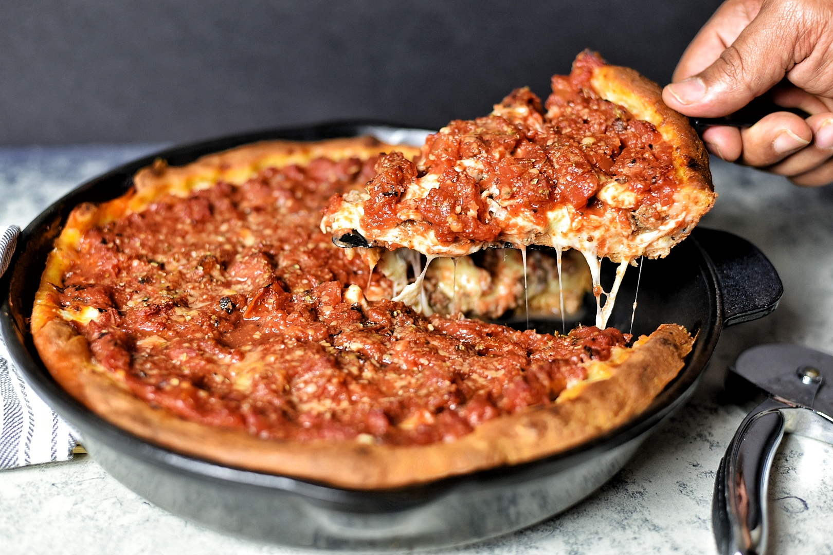 Chicago Style Deep Dish Pizza Dude That Cookz