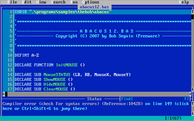 I never used QBasic in the late 80s because I only got a computer in the early 90s.