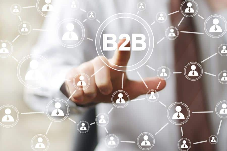 Digitization in B2B purchasing means having a global network of customers and suppliers. [shutterstock: 250348678, MaximP]