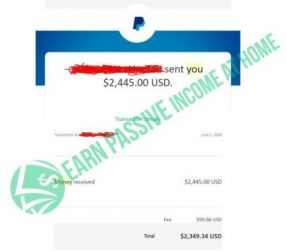 Earn Passive Income At Home Income Proof