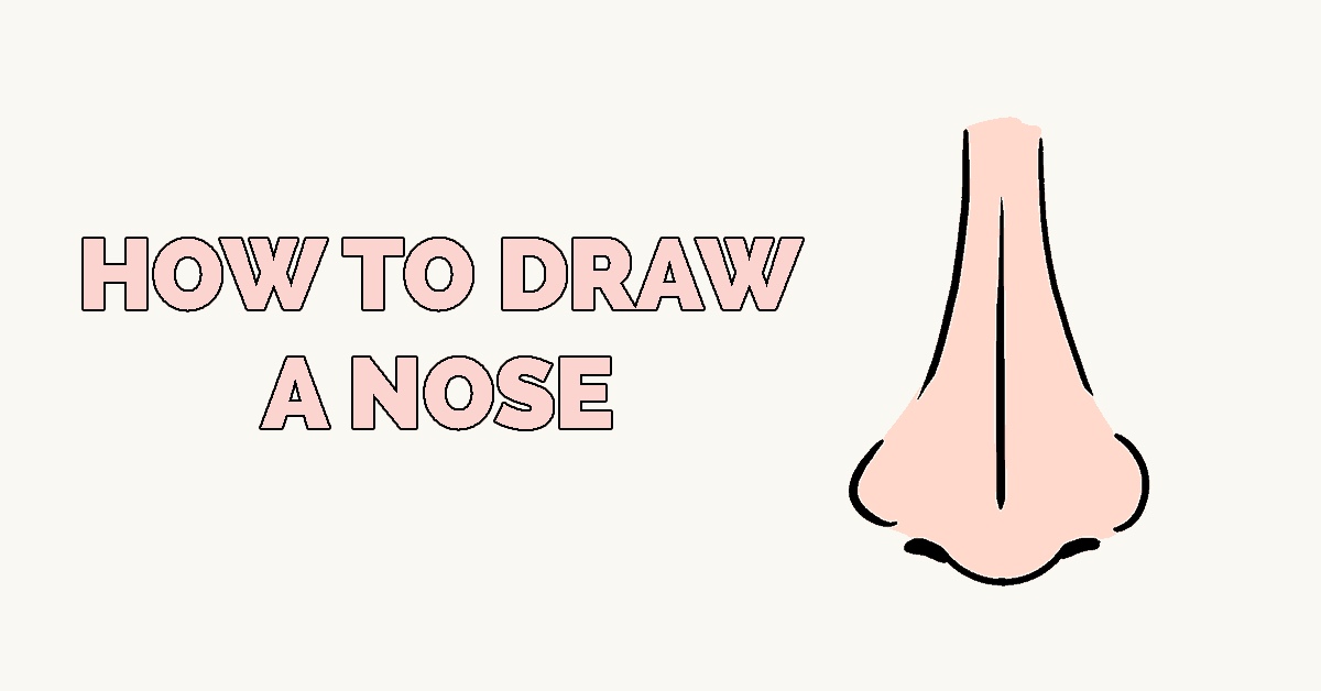 How To Draw A Nose Really Easy Drawing Tutorial