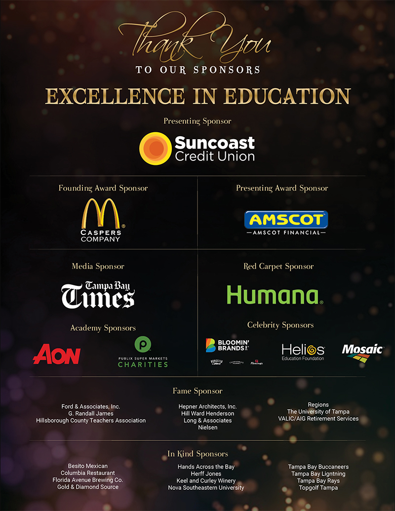 2021 Hillsborough Education Foundation Excellence in Education Awards Sponsors