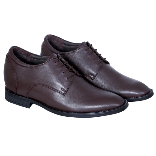Elevato Height Increasing Brown Formal Shoes