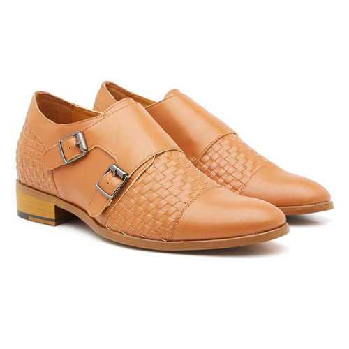 Elevato Height Increasing Double Monk strap Shoes