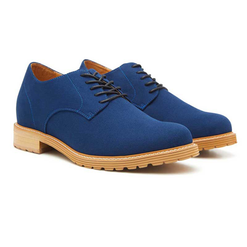 Elevato Height Increasing Blue Casual Shoes